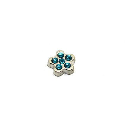 Small Blue Rhinestone Flower