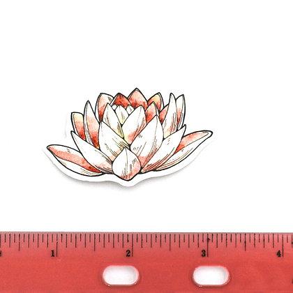 Pink Flower Vinyl Sticker