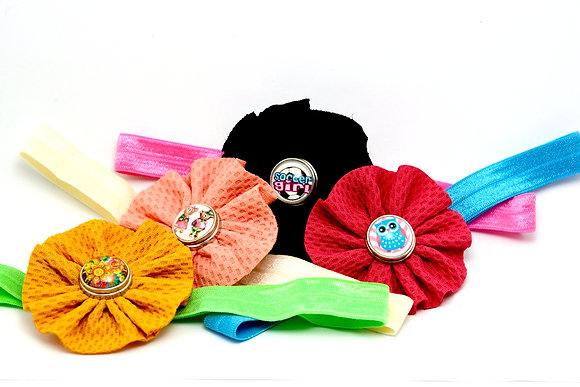 YOU DESIGN Headband With Waffle Flower