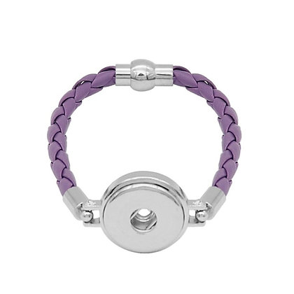 Simple Leather Braided Bracelet Lavender