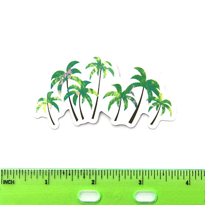 Green Palm Trees Vinyl Sticker