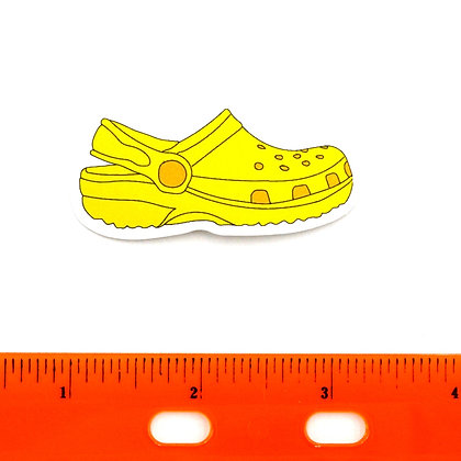 Yellow Croc Vinyl Sticker