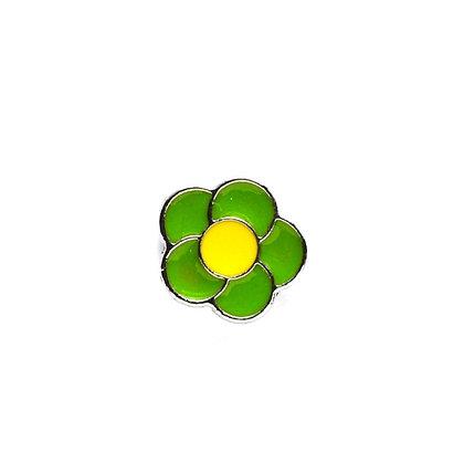 Green Flower Slider Charm