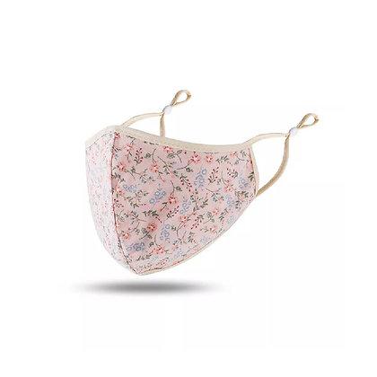 Peach Floral Mask