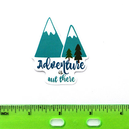 Green Adventure is out there Vinyl Sticker