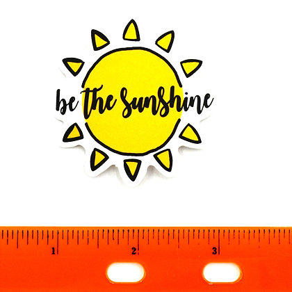 Yellow Be the Sunshine Vinyl Sticker