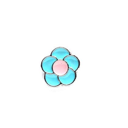 Baby Blue Flower Slider Charm
