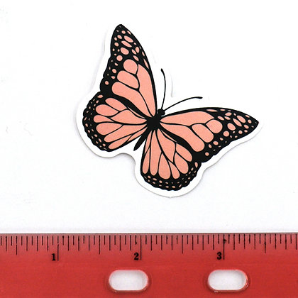 Pink Butterfly Vinyl Sticker