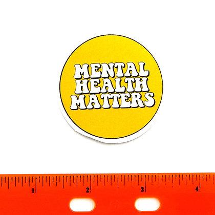 Yellow Mental Health Matters Vinyl Sticker