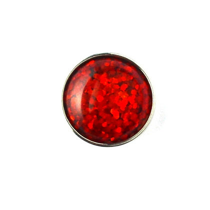 20mm Red Glitter Snap