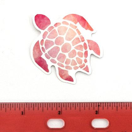 Pink Sea Turtle Vinyl Sticker