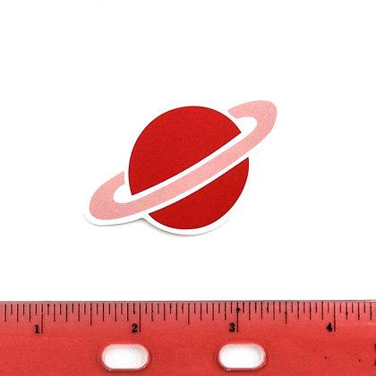 Red Planet Vinyl Sticker