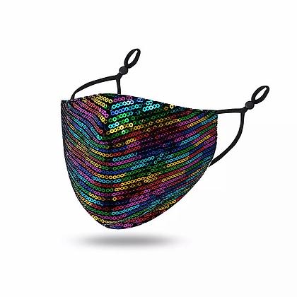 Rainbow Sequin Print Mask