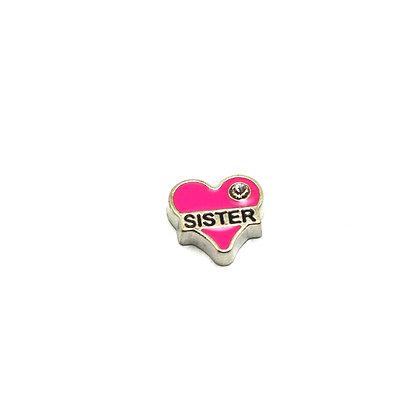 Sister Heart Charm