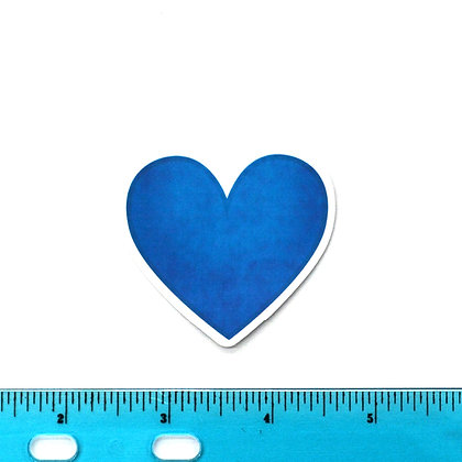 Blue Heart Vinyl Sticker