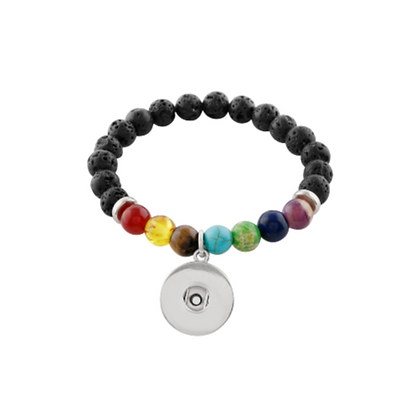 Chakra Lava Beads Bracelet