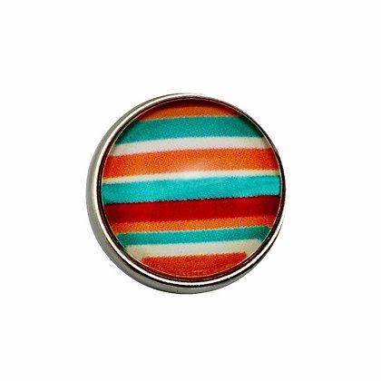 Turquoise & Orange Stripes