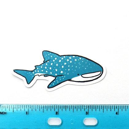 Blue Shark Vinyl Sticker