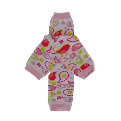 Pink Paisley Leg Warmers