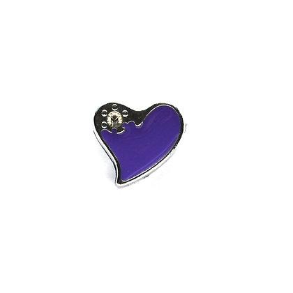 Purple Heart with Corner Stone Slider Charm