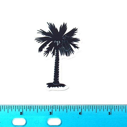 Dark Palm Tree Vinyl Sticker