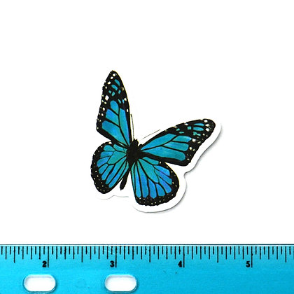 Blue Butterfly Vinyl Sticker