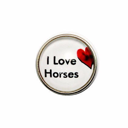 I Love Horses Heart