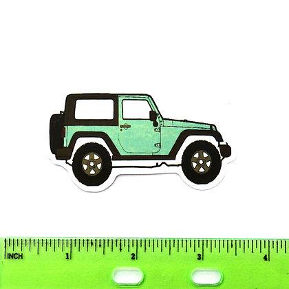 Green Jeep Vinyl Sticker