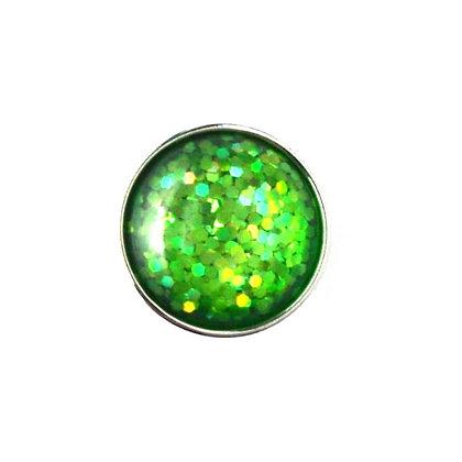 20mm Green Glitter Snap