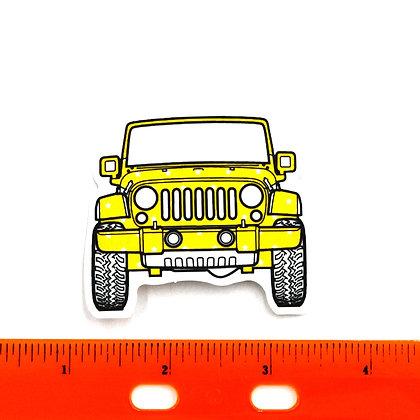 Yellow Jeep Vinyl Sticker