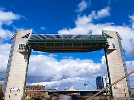 Photo of Hull's tidal barrier on the river Hull next to The Deep on Engineering Walk