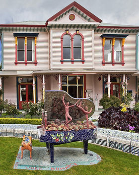 The Giants House is definitely worth a visit when staying at French Bay House boutique bed and breakfast accommodation in Akaroa, Banks Peninsula, South Island, New Zealand.BnB. B and B. B&B. Bed&Breakfast. Bed & Breakfast