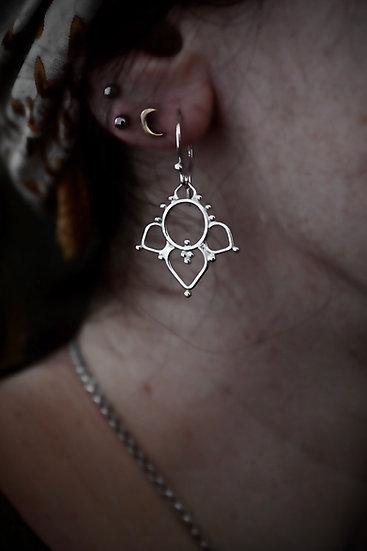 Lotus drops earrings