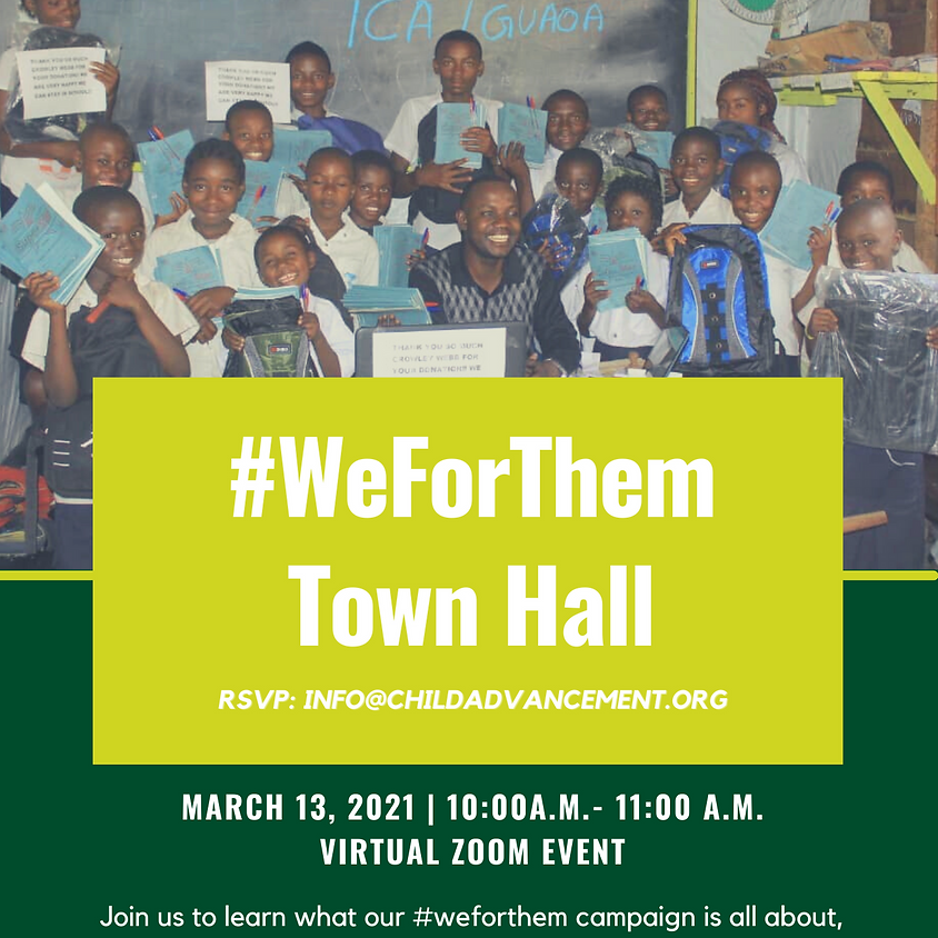 We For Them Town Hall