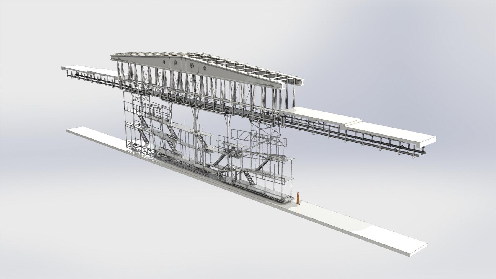 structures décors sur ponts roulants