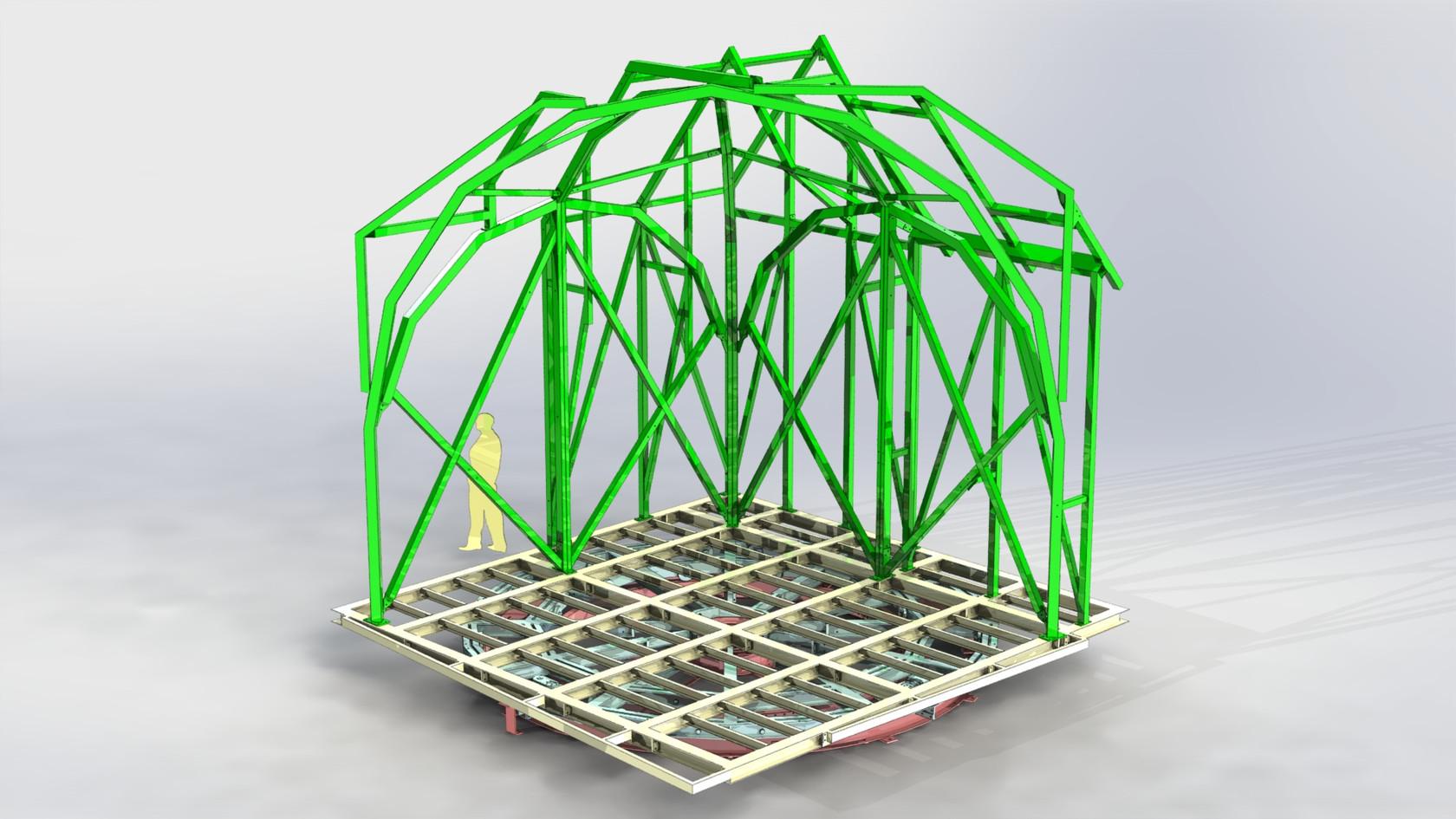 structure décor sur plateau tournant