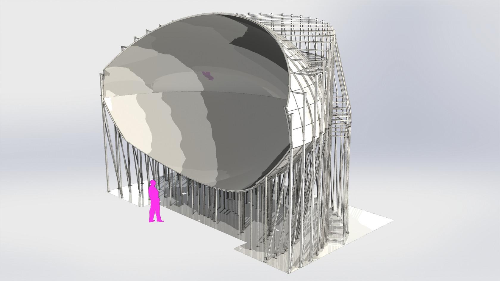 structure écran cyclo