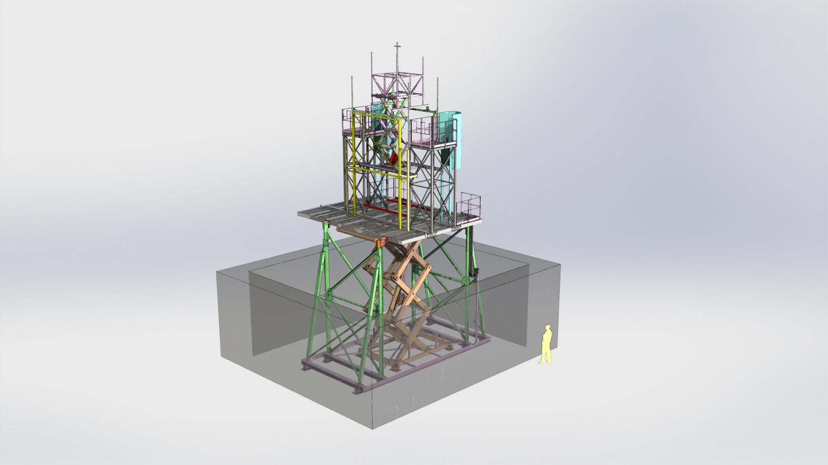 structure décor immergée