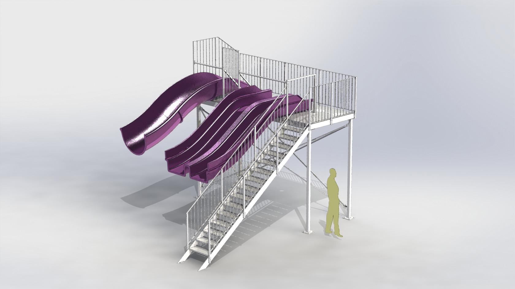 structures de toboggans aquatiques