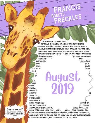 Freckles the Giraffe