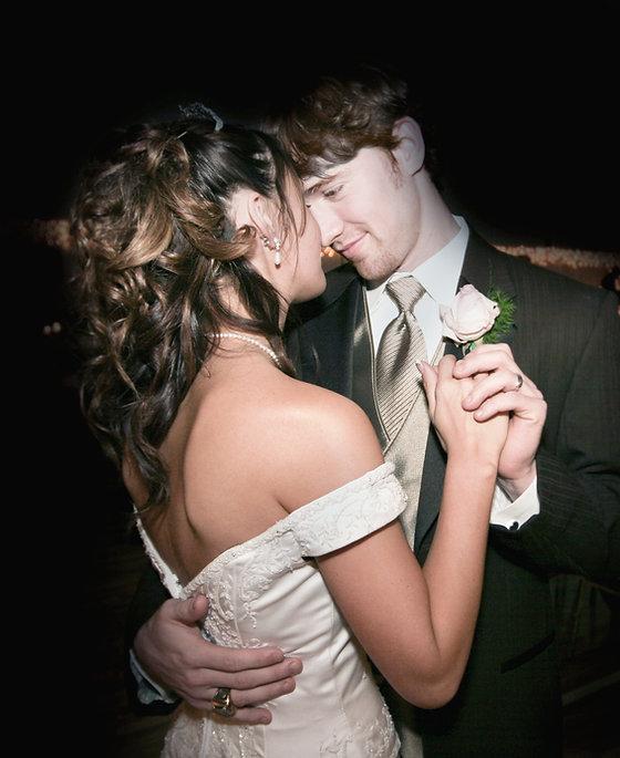 Paar-Tanzen an der Hochzeit