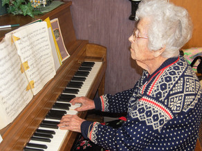 Tickling the ivories for nearly a century