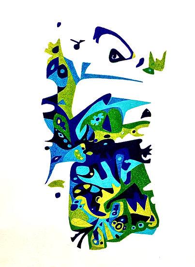Untitled Blue & Green