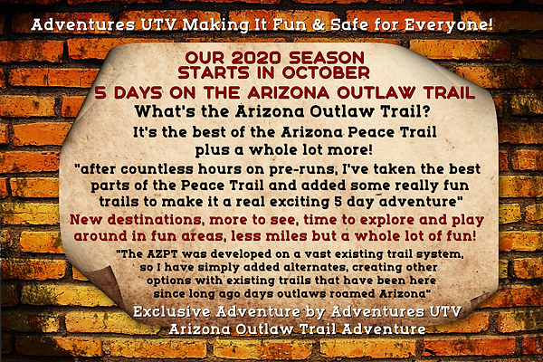 Adventures UTV Guided Tours Arizona Peace Trail Arizona Outlaw Trails
