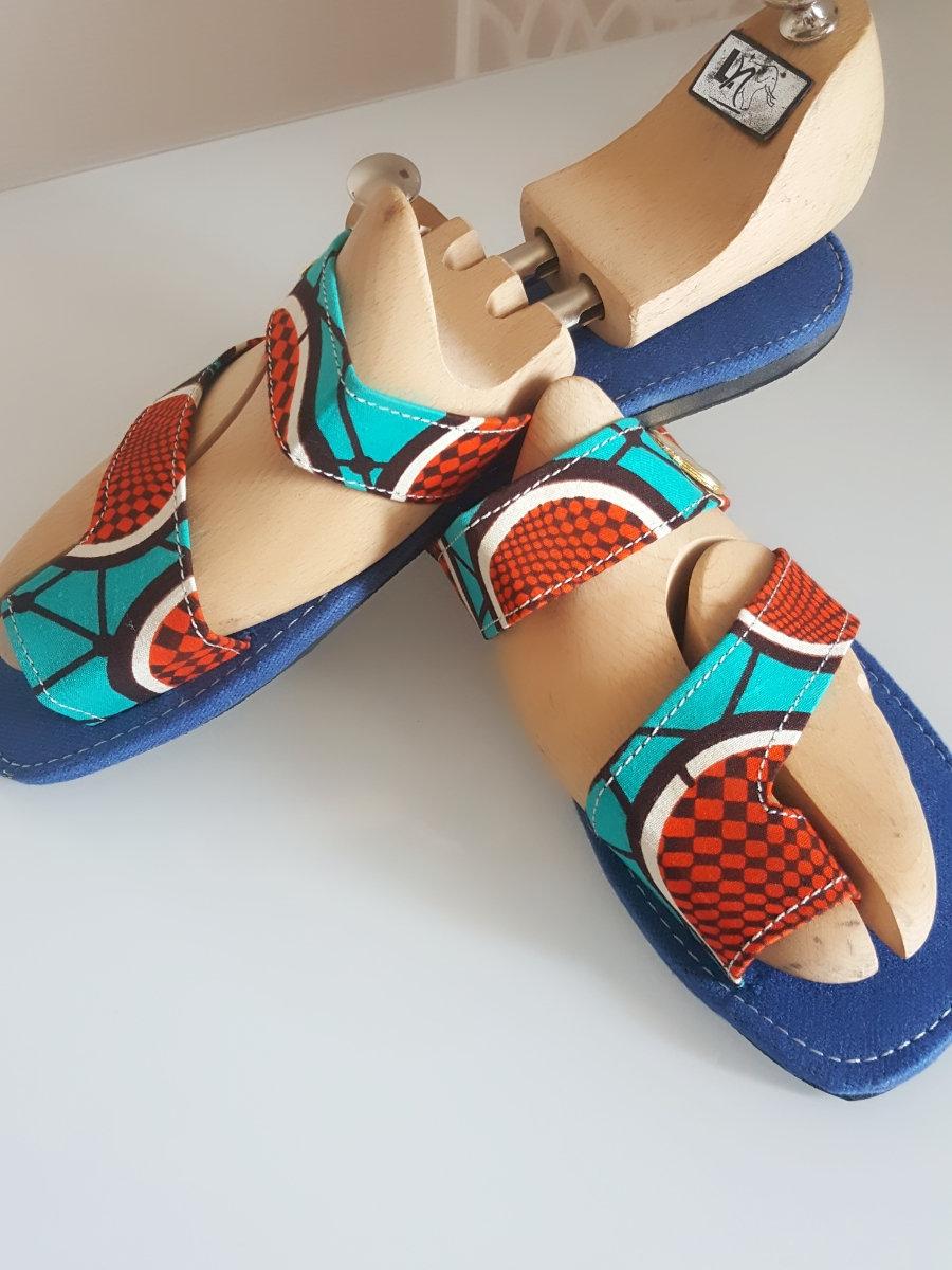 Sandales Wax Africain Pagne Original Homme Samara Dehw29i XZPuki