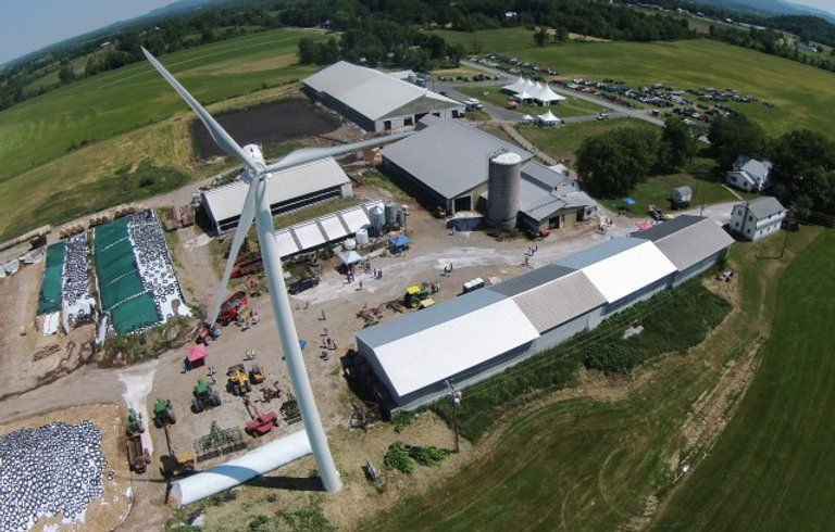 Nea-Tocht Farm Wind Turbine installed by Aegis Renewable Energy of Waitsfield VT