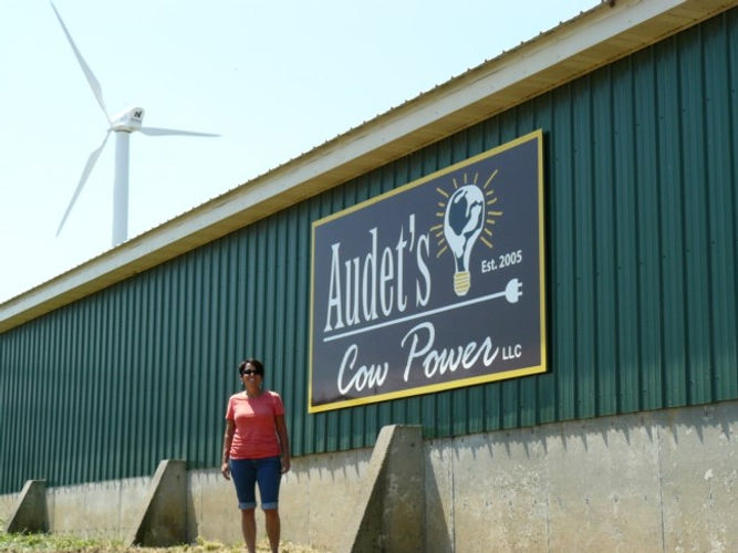 Wind Turbine at Blue Spruce Farm in Bridport VT installed by Aegis Renewable Energy