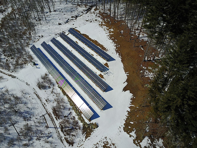 The Mad River Community Solar Farm in Waitsfield VT