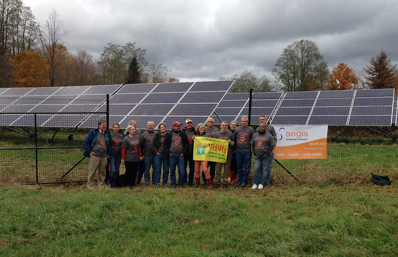 Members of the Boardman Hill Solar Farm; West Rutland VT