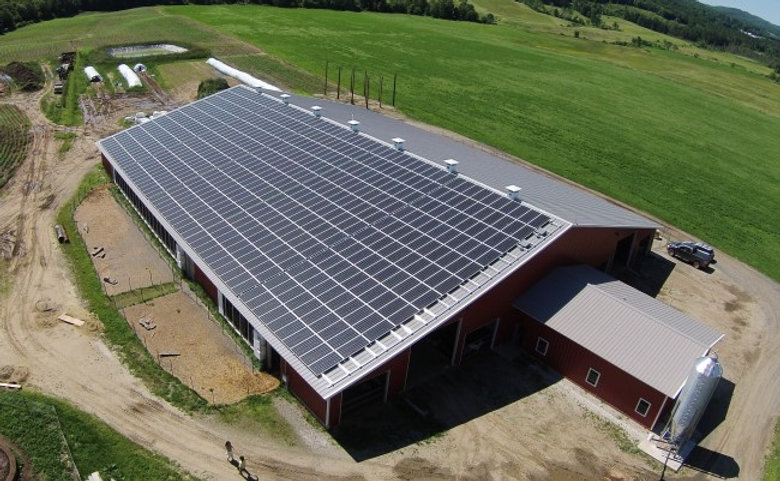 Aegis Renewable Energy designed and installed the Ayer's Goat Dairy; Vermont roof top solar array